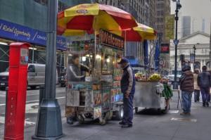 NYC - random hot dog stand